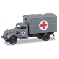 "Herpa 745406, Ural ambulance box ""German Forces"", skala H0"