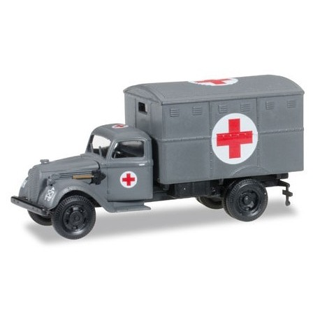 "Herpa 745406, Ural truck with ambulance box (with tactical sign) ""German Forces"", skala H0"