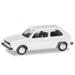 Herpa 066600, VW Golf I, atlas white, skala TT