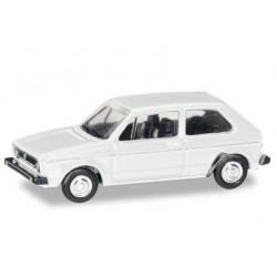 Herpa 066600, VW Golf I, atlas white, skala TT