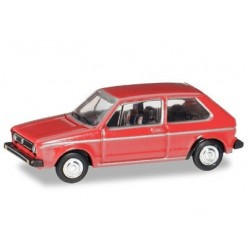 Herpa 066617, VW Golf I, martian red, skala TT (1:120)