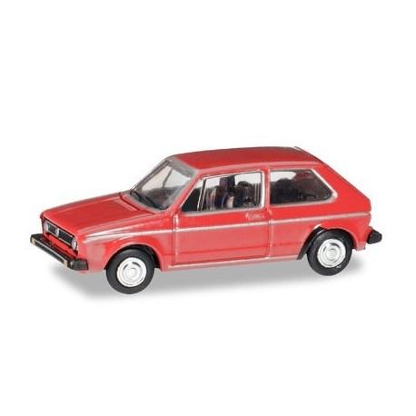 Herpa 066617, VW Golf I, martian red, skala TT (1:120)