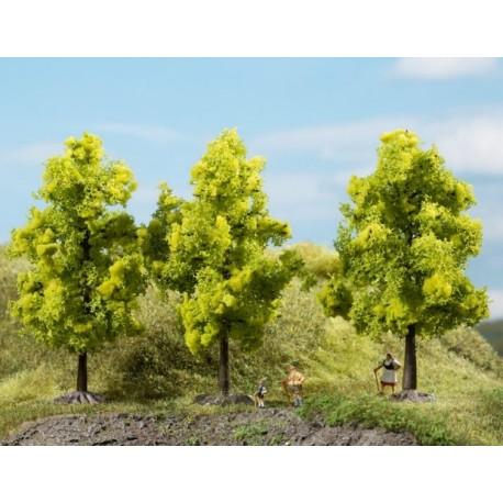 Auhagen 70937, Drzewa liściaste, 3 sztuki, ~11 cm. Jasnozielone.