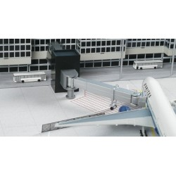 Herpa 520416, Rękaw lotniskowy z wieżą wejściową, skala 1:500