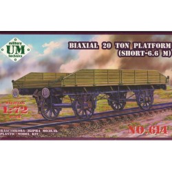 UM MT 614, Biaxial 20 Ton, wagon platforma , model, skala 1:72.