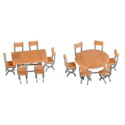 Faller 180957, 2 stoły i 12 krzeseł, skala H0