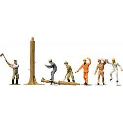 Faller 151041, Drwale, robotnicy leśni przy pracy, H0