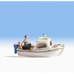 Noch 16822, Łódź motorowa rybacka + figurki, skala H0