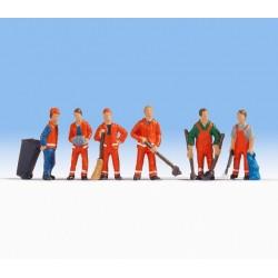 Noch 15029, Pracownicy oczyszczania miasta, skala H0