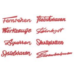Faller 180962, Szyldy: nazwy sklepów (DE), lata 50-te., zestaw
