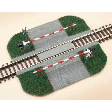 Auhagen 41604, Przejazd kolejowy z zaporami, skala H0.