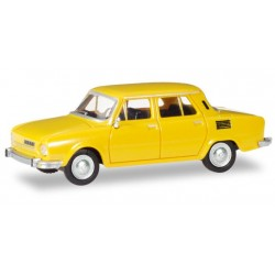 Herpa 028820, Skoda 110 L, honey yellow, skala H0