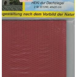 Heki 72312, Dachówka czerwona, 40 x 20 cm (x 2 szt.), skale 0/1/(H0)