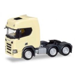 Herpa 308816, Scania CR 20 HD 6x2 rigid tractor, light yellow, skala H0