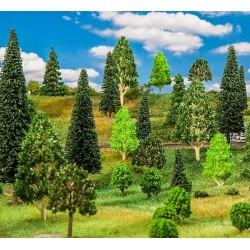 Faller 181534, Zestaw 10 drzew, mix, wys. 75-95 mm