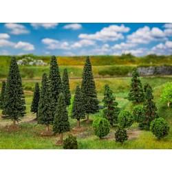 Faller 181540, Zestaw 25 drzew, mix, wys. 35-90 mm