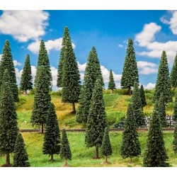 Faller 181538, Zestaw 25 drzew: jodła, wys. 50-150 mm.