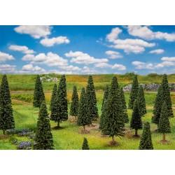 Faller 181541, Zestaw 25 drzew: jodła, wys. 50-90 mm.