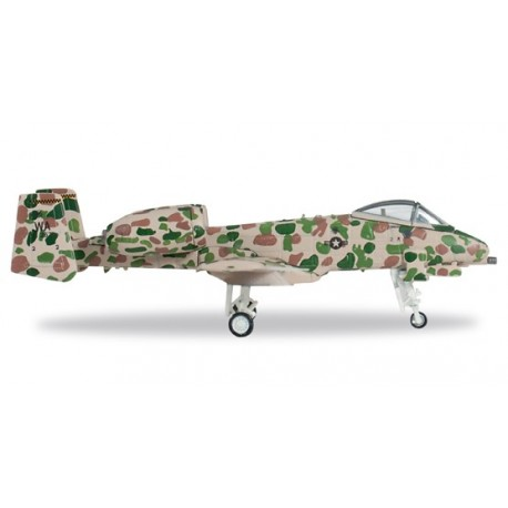 """Herpa 557054, USAF Fairchild A-10A Thunderbolt II, 57th Tact. Training Wing, Nellis AB, """"JAWS"""" – 75-262, skala 1:200"""