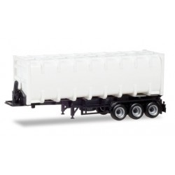 Herpa 076234-002, 30ft. container trailer, naczepa 3-os., skala H0