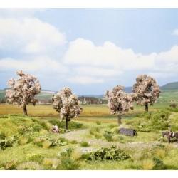NOCH 21003, Cztery kwitnące drzewa owocowe, ~8 cm (H0/TT)