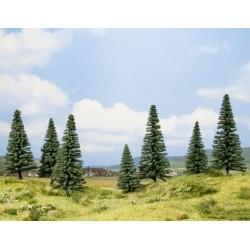 Noch 26004, zestaw 7 drzew: jodły, 8 - 14 cm, H0.