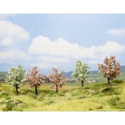 NOCH 25003, Pięć kwitnących drzew owocowych, ~8 cm (H0/TT)