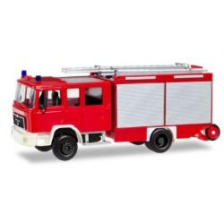 """Herpa 094092, MAN G 90 LF 16 fire truck """"Fire Department"""", skala H0"""