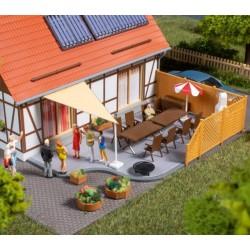 Auhagen 41650, Wyposażenie tarasu, ogrodu, patio... skala H0.