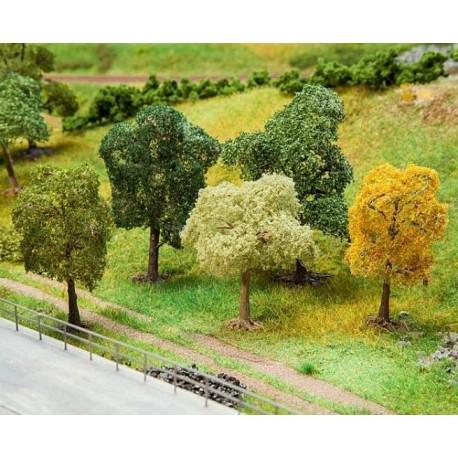 Faller 181171, Zestaw: pięć drzew Faller Premium, 70-100 mm