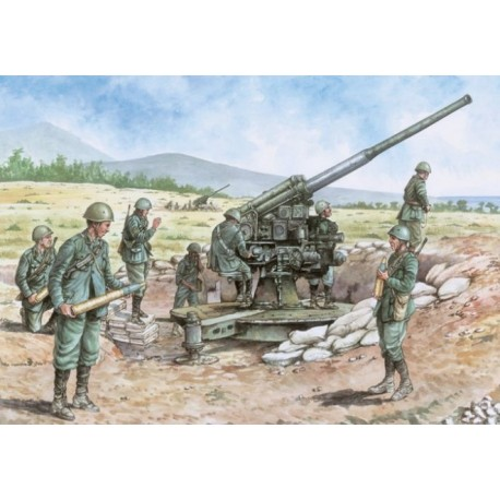 Italeri 6122, ITALIAN 90/53 GUN with CREW, skala 1:72