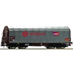 "ROCO 76450, Wagon kurtynowy Shimmss, ""Ermewa"", SNCF, ep.VI, skala H0"