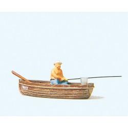 Preiser 28052, Wędkarz w łódce, skala H0