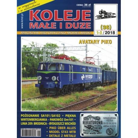 KMiD28 Koleje Małe i Duże, nr 36 (1-2/2018)