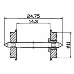 Roco 40198, Koła pełne 11 mm, skala H0