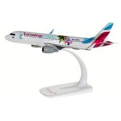"""Herpa 611893, Eurowings Europe Airbus A320 """"Eurowings Holidays"""" OE-IQD, skala 1:200"""