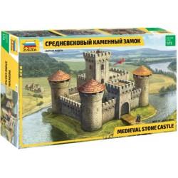 ZVEZDA 8512, Średniowieczna kamienna twierdza, zamek, skala 1:72