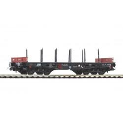 PIKO 58417, Wagon platforma z kłonicami, 401Ze Rmmps (PPzk) PKP, ep.IV, skala H0