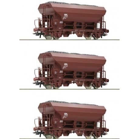 ROCO 76173, Zestaw: trzy wagony Fcs, CFL, ep.IV, skala H0