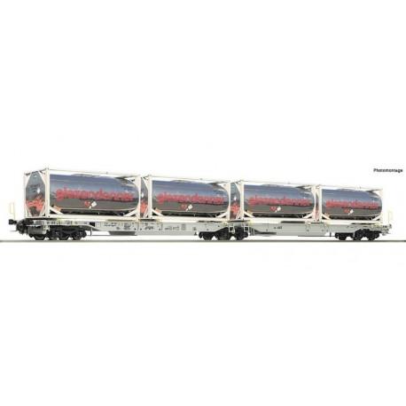 ROCO 67403, Podwójny wagon kieszeniowy Sdggmrs/T2000 z ładunkiem, AAE, ep.VI, skala H0