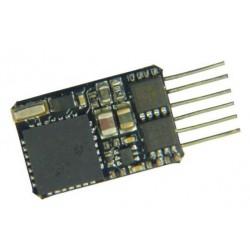 Fleischmann 686101, Dekoder 6-pin (NEM 651), DCC + RailCom®, H0e, TT, N, 0.8 A.