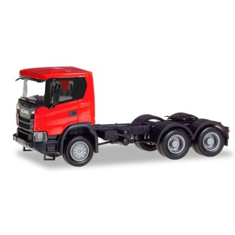 Herpa 309752, Scania CG 17 6x6 rigid tractor, red, skala H0