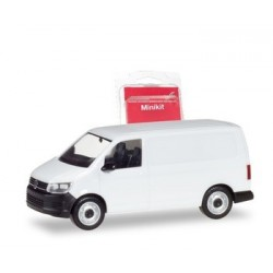 Herpa 013550, VW T6 box type, white, skala H0 - MiniKit.