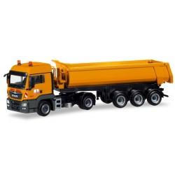 "Herpa 309462, MAN TGS LX dump semitrailer ""Max Bögl"", skala H0."