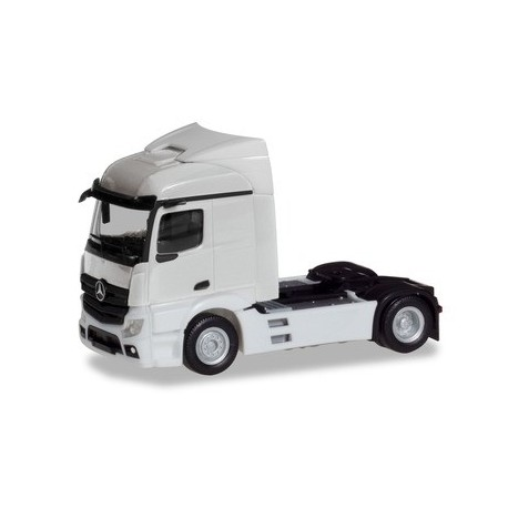 Herpa 309882, Mercedes-Benz Actros Streamspace 2.3 trailer 2-axle, white, skala H0.