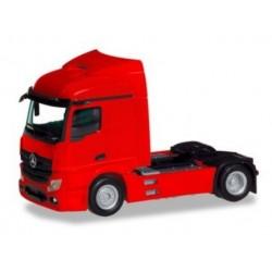 Herpa 309899, Mercedes-Benz Actros Streamspace 2.3 trailer 2-axle, red, skala H0.