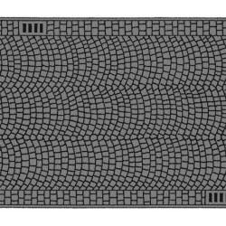 NOCH 48592, Ulica brukowana, 100 x 4 cm, skala TT (1:120).