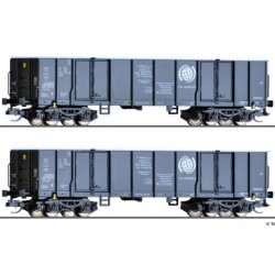 Tillig 01797, Zestaw: dwa wagony Eaos, CTL (PKP), skala TT (1:120)