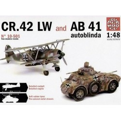 Italeri Supermodel 10501, Dwa modele: FIAT CR.42 LW + AB 41 Autoblinda 41 , skala 1:48.