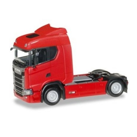 Herpa 310185, Scania CS 20 low roof tractor, red, skala H0.
